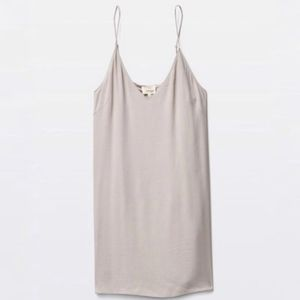 Aritzia Wilfred Free Gray Vivienne Slip Dress XS